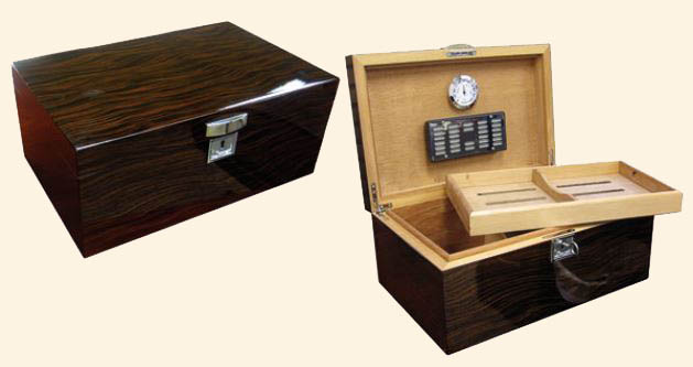 The Princeton Ebony Humidor...130 Ct.